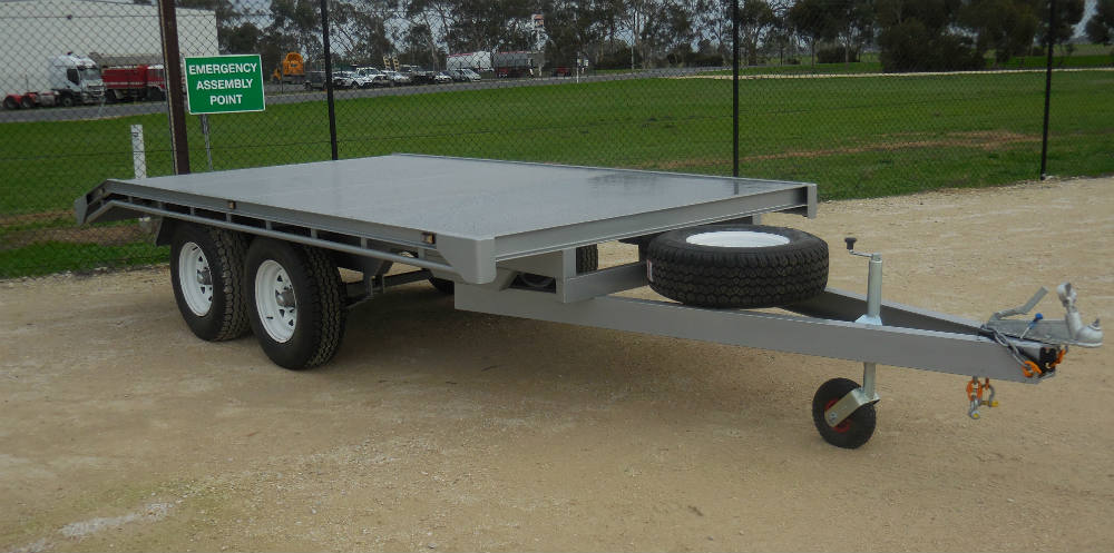 Flat Top Trailer - 1 T Bare trailer weight
